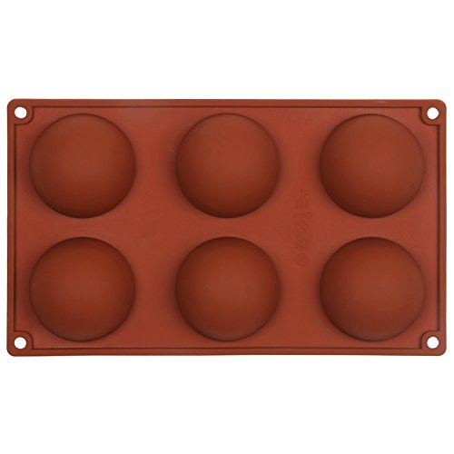 Home Best Buy Silicone Baking Mould Hemisphere 6 Cavity Half Circle Diy Cake Baking Mould Silicone Mold For Making Delicate Chocolate Desserts Ice Cream Bombes Cakes Soap Etc  Hemisphere