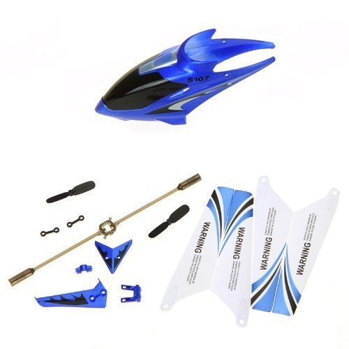 Syma Full Replacement Parts Set for Syma S107 Rc Helicopter Blue Set