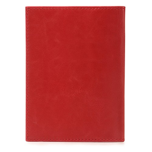 OTTO Leather Passport Wallet - RFID Blocking - Unisex (Red) by OTTO (Image #7)