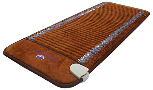 Far Infrared Amethyst Mat Professional 73'L x 29'W - Made in Korea - Deep Penetration FIR Heat - Ion Therapy - Jewelry Grade Natural Amethyst - FDA Registered Manufacturer - Heating Pad with Crystals