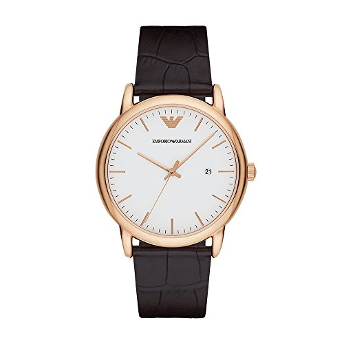 Emporio Armani Men's AR2502 Dress Brown Leather Quartz Watch ()