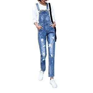 Women's Classic Bib Overalls Denim Jeans Adjustable Strap Romper Pants Jumpsuit
