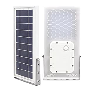 Solar Street Light // HEX 780X Solar Street Light (Warm White LED) // 3-Level Power Setting // Fits Max Pole Diameter 2.5""