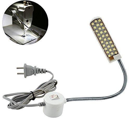 Bonlux 30 LED Bombilla Luz Fría Para Máquina de Coser de Trabajo de cuello de cisne Con Base Magnética De Montaje Para Todos Máquina de Coser de ...