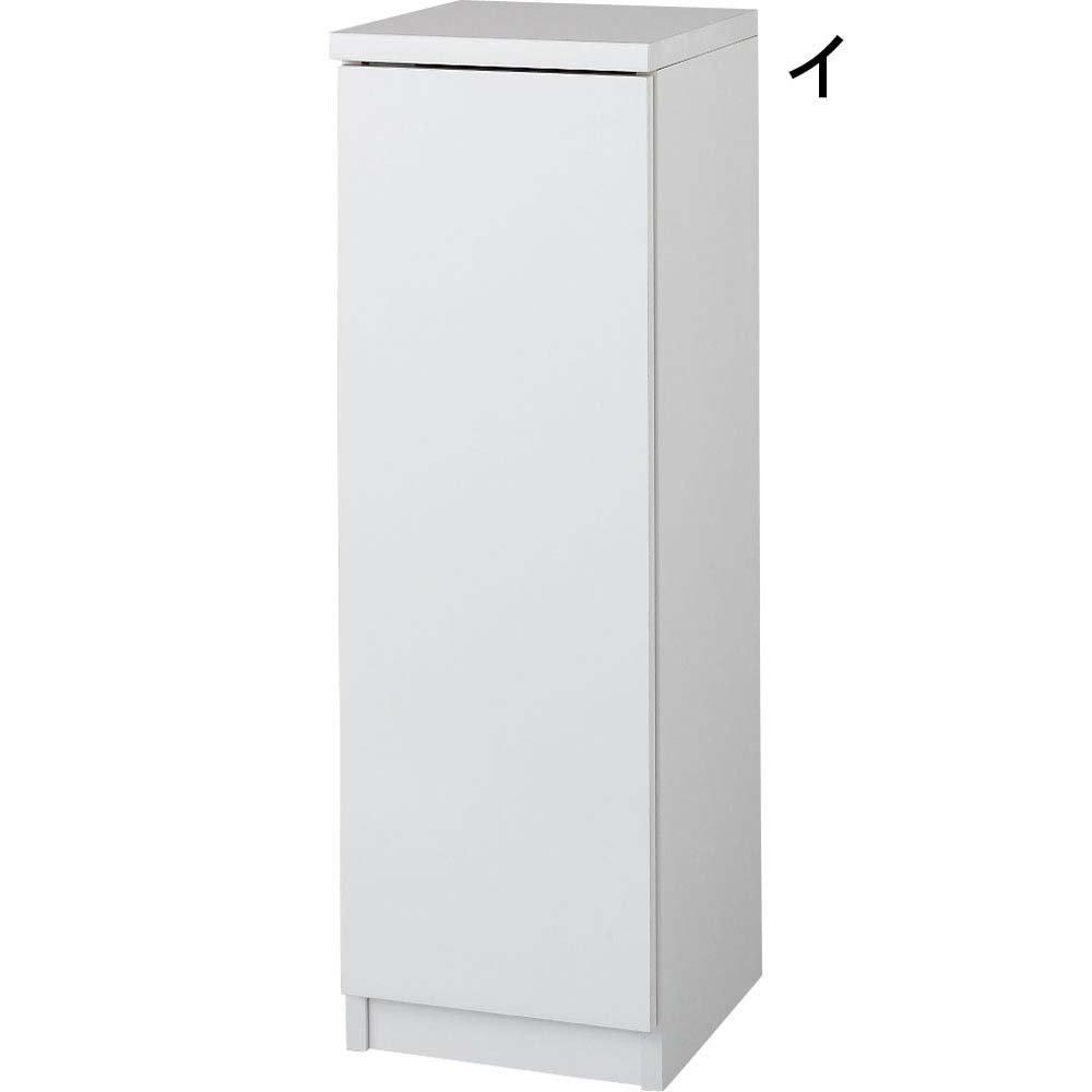 前面ミラー&板戸シューズボックス 段違いミドルタイプ幅30.5 高さ93cm 513423(サイズはありません イ:ホワイト) B079BPPNRHイ:ホワイト