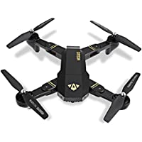 Fineser XS809W Mini Drone Foldable RC Quadcopter with 120° Wide-angle HD Camera 6-Axis gyro 2.4 GHz with Altitude hold, One Key Return and Headless Mode Function