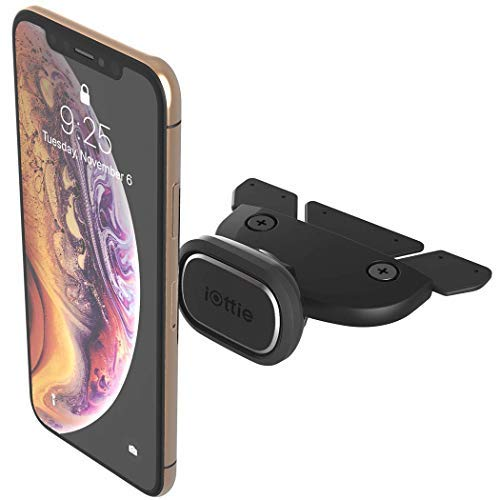 iOttie iTap 2 Magnetic CD Slot Car Mount Holder || Cradle for iPhone Xs Max R 8 Plus 7 Samsung Galaxy S10 E S9 S8 Plus Edge Note 9 & Other Smartphones by iOttie