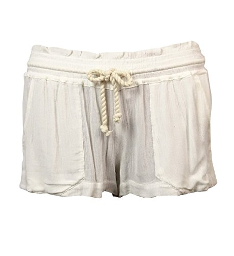 Roxy Women's Drawstring Rope Oceanside Shorts (S, White)