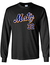 "LONG SLEEVE BLACK New York Steven Matz ""Logo"" T-Shirt"