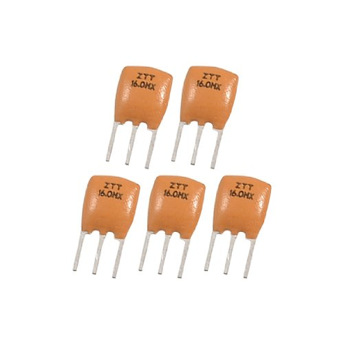 Uxcell a12092100ux0654 Radial Lead Ceramic Resonator 3 Pins ZTT Series, 16.000 MHz, 5 Piece (Series Resonator)