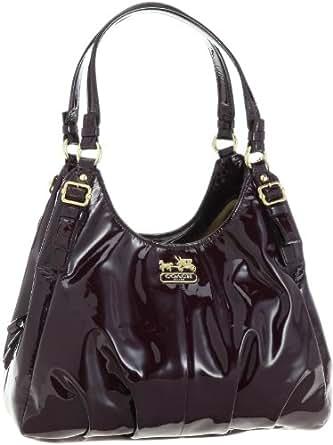 Coach Madison Patent Leather Maggie Shoulder Hobo Bag Purse 18760 Plum