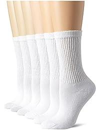 Hanes Women's Comfort Blend Crew Sock, 6 Pack