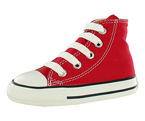 Converse Kid's Chuck Taylor All Star High Top Shoe, red, 6 M US Toddler -