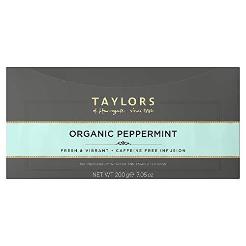 Taylors of Harrogate Organic Peppermint Herbal Tea, 100 - Organic Tea Peppermint White