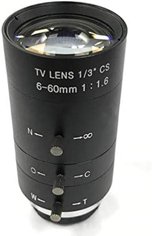 N V Cctv Video Objektiv Manuell Iris Zoom 6 60mm Cs Mount Objektiv Für Industrielles Mikroskop Varifokal Cctv Objektiv Überwachungskamera Objektiv Küche Haushalt