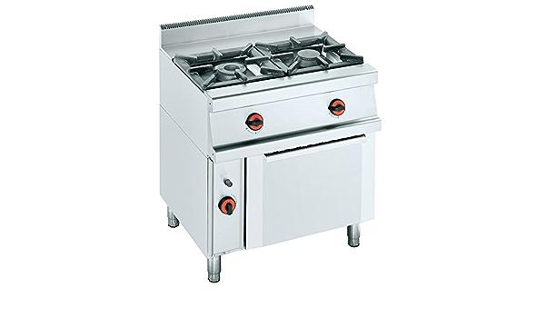 Macfrin S2SH Cocina a Gas de 2 Fuegos y Horno Con ...