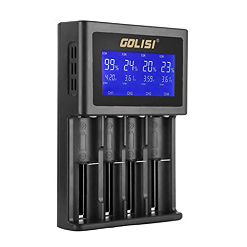 Huangou ❤❤ Battery Charger ❤ Golisi S4 LCD Display Smart Battery Charger for Lithium-ion/NI-cd/Ni-MH/AAA/AA (Black, Free)