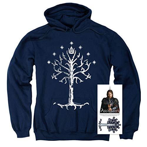 Lord of The Rings Pullover Hoodie Sweatshirt & Stickers