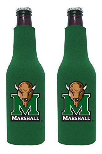 NCAA College 2014 Team Logo Color Bottle Suit Holder Holder Koozie Cooler 2-Pack (Marshall Thundering Herd) (Marshall Thundering Herd Bottle)