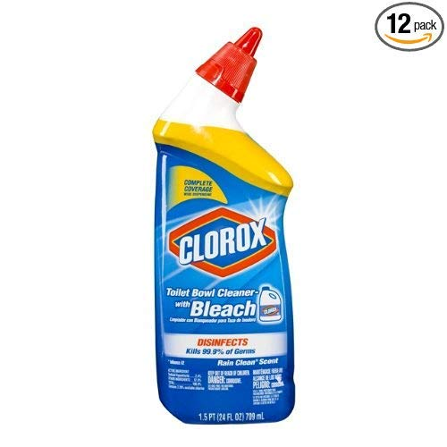 Clorox Toilet Bowl Cleaner with Bleach Rain Clean Scent 24 oz (Pack of 12)