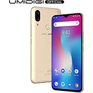 UMIDIGI Power Unlocked Cell Phones, Android 9.0 Smartphone 6.3″ FHD+ Waterdrop Full Screen, 16MP+5MP Dual Rear Camera 64GB+4GB RAM 5150mAh Battery 18W Fast Charge Dual 4G (Gold)