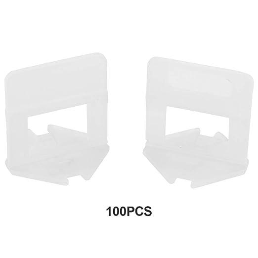 Tile Leveling Clip Spacer Herramienta de nivelaci/ón de azulejos,100 Pcs//set pl/ástico desechable suelo azulejo de la pared clips de ajuste de la altura de la cu/ña ajustable Joint Assistant Tool 2.0mm