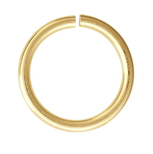 400pcs Top Quality 10mm Open Jump Rings (Wire ~21GA or 0.7mm) 14k Gold Plated for Jewelry Craft Making CF168-10