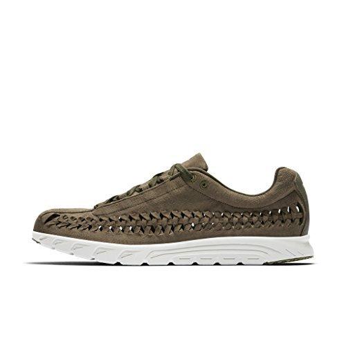 - NIKE Mayfly Woven Mens Running-Shoes 833132-200_10.5 - Medium Olive/Light Bone-Black