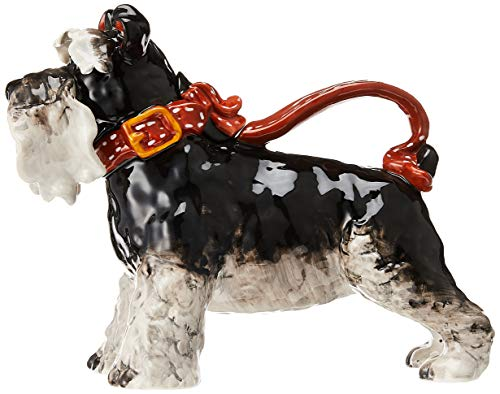 "Blue Sky Ceramic Terrier Dog Teapot, 11.5 x 5.5 x 9"", Grey"
