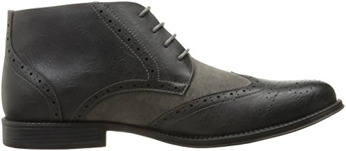 alpine swiss Geneva Mens Ankle Boots Lace Up Twotone Brogue Wing Tip Dress Shoes Gray f8HCR7
