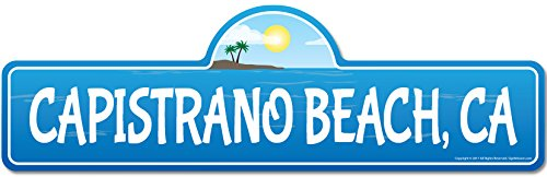 SignMission Capistrano, CA California Beach Street Sign | Indoor/Outdoor | Surfer, Ocean Lover, Décor for Beach House, Garages, Living Rooms, Bedroom Personalized (Capistrano Outdoor Wall)