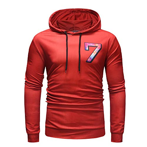 Men's Hoodies Pullover Long Sleeve Active Gym Casual Workout Sweatshirts by Sinzelimin Men's Top