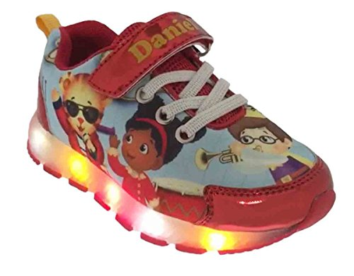Daniel Tiger Toddler 37119 Athletic Shoes with Lights (9 M US Toddler) Red