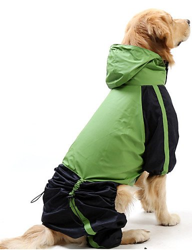 MQZM perro gato Puppy Pet Dress Up - Chubasquero para Perros Gatos / rojo / verde primavera/otoño XS impermeable / S / M / L / XL / XXL XXXL / / 5XL 4XL / Nylon , verde-xl , verde-xl