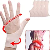 4 PCS Gel Wrist Support Braces, Carpal Tunnel Wrist Brace, Gel Wrist Splint Brace Great for Tenosynovitis, Typing, Wrist & Thumb Pain, Rheumatism, Arthritis & More.