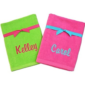 monogrammed beach towels for you - Monogrammed Beach Towels