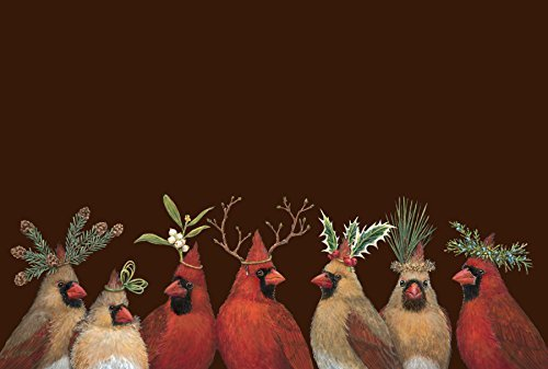 Kitchen Papers Cardinal Party Paper Placemats Set/30 American - Pack Party Cardinals