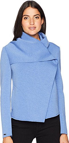 Anne Klein Outerwear - Anne Klein Women's Asymmetrical Front Jacket Bright Pacific 10