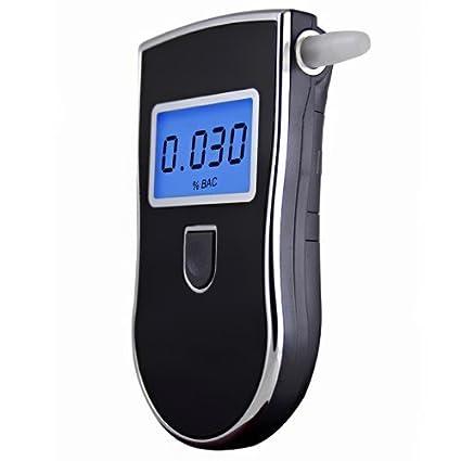 Alcoholímetros 【Alcoholímetro Digital Portátil】 Probador de Alcohol con Alta Sensibilidad Pantalla LCD y 5 Boquillas Desechables