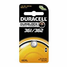 Duracell Watch-361 361/362 1.5V Watch/Electronic Battery, 1 Count