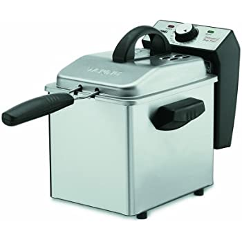 Cuisinart DF55 Professional Mini 1-2/7-Pound-Capacity Stainless-Steel Deep Fryer