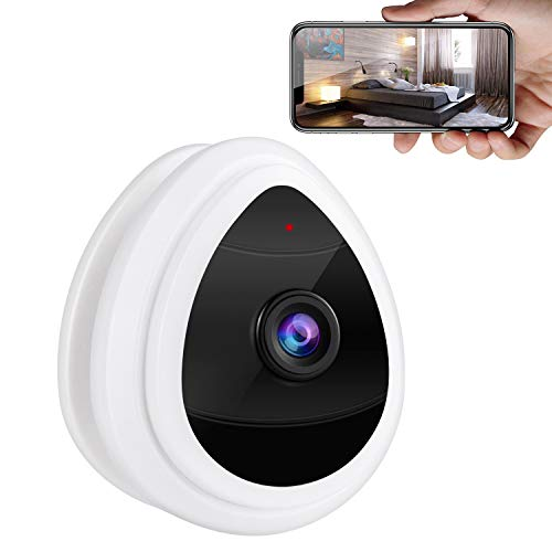 Security Camera, 2.4Ghz WiFi Indoor Home Security Dome Camera for Pet Baby, Remote Monitor with MicroSD Slot, Android,iOS App (UOKOO)