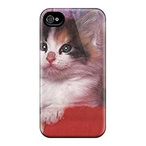 CaroleSignorile BaT3838BbwT Cases Covers Skin For Iphone 6 (a Kitten Playing With Some Yarn)