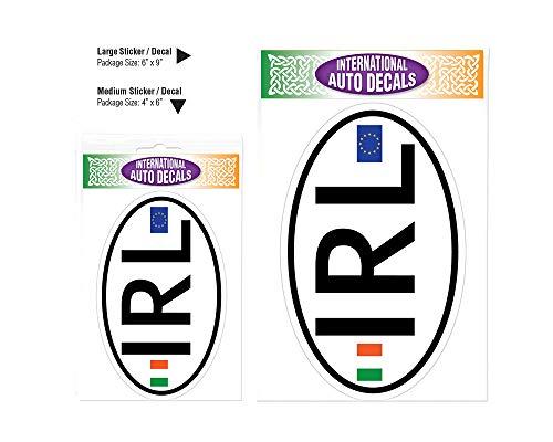 Irish IRL Traditional Oval Decal Vinyl Window Sticker