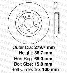 4 Cross-Drilled Disc Brake Rotors Volkswagen Front+Rear Kit 8 Semi-Metallic Pads 5lug High-End