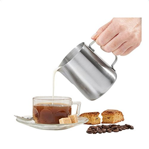 WeiMay 150ML Grade Stainless Steel Frothing Pitcher for Milk Coffee by WeiMay (Image #3)