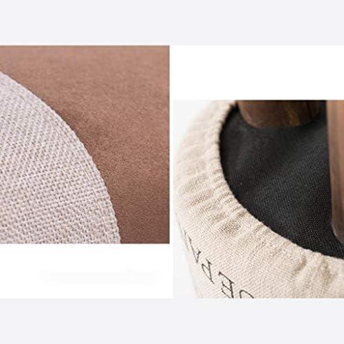 CHHD Chaise de Bureau, Grain de Bois Rond Tabouret Lin canapé Tabouret en Bois Massif pour Tabouret de Chaussure Salon Tabouret Tabouret Bas Tabouret
