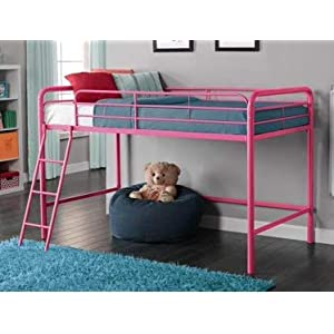 Bunk Beds for Kids Toddler Twin Junior Metal Loft Pink Your Child Will Sleep in Style and Great Solution for Your Space…