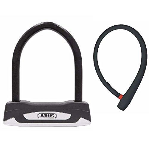 Abus Granit X-Plus 54 Mini Key Bicycle U Lock and Lightweight 65cm uGrip Cable Lock Bike Security Kit ()