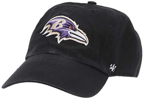 NFL Baltimore Ravens '47 Clean Up Adjustable Hat, Black, One Size